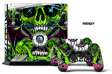 Designer Skin for PS4 Playstation 4 Console System & 2 Controller Decals FRENZY