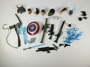 Marvel Legends Mixed Accessories Weapons Heads, Hands Lot etc. By Hasbro