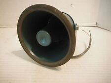 "Vintage AMD All Weather Trumpet Speaker No 43-006 10W 6""x6"" Working Japan"