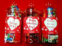 Personalised Valentines Day Sweets Chocolates Jars Gifts presents Love