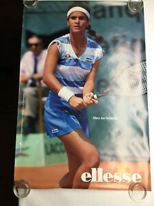 "Vintage Mary Joe Fernandez Ellesse Woman's Tennis Sneaker Poster 1980s 36"" X 24"""
