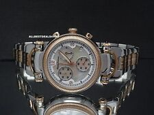 Tommy Bahama TB4059 Rose Gold Silver Tone Chronograph Mother of Pearl Watch $395