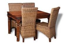 JALI SHEESHAM 120CM DINING TABLE AND 4 HAVANA CHAIRS (4 STYLES) (J40)