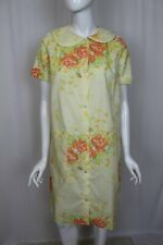 Vintage Jc Penney Women's Floral Print Snap Front Housedress Robe - Size 12 -New