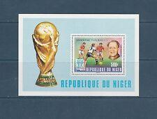 Niger  bloc  coupe du monde de football surchargé  1978  num:  22  **