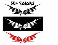 Wings Honda Skull Decal Stickers Set Of 2 For Car Truck Motorcycle Racing Bike