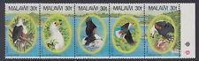 MALAWI: 1983 Fish Eagle set  SG 674-8 MNH se-tenant strip