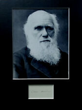 More details for charles darwin signed autograph photo display theory of evolution biology