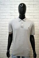 Polo RALPH LAUREN Maglia Uomo Taglia XL Shirt Chemise homme Grigia Cotone Man's
