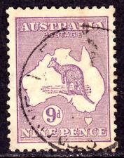 AUSTRALIA #41 9p VIOLET, 1915 Wmk.9, F, CDS