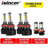 6x For Toyota Tacoma 2016-2020 LED Headlight High Low Fog Light Bulbs Combo Kit