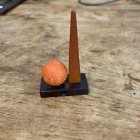 "Vintage 1939 New York Worlds Fair Pencil Sharpener Bakelite 3.75"" Orange Black"