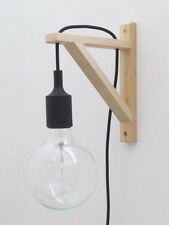 Scandinavian Wall Lamp Silicone Light - 3m Black - UK plug + Bracket