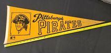 "1960S/70S VINTAGE MLB PITTSBURGH PIRATES FELT PENNANT 30X12"""