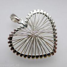 Wire Wrap Heart 925 Sterling Silver Pendant Jewellery