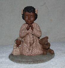 "Miss Martha Originals Faith #3 All God's Children 1992 4"" Praying With Doll Bear"
