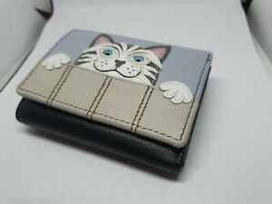 Quality Soft Leather Best Friends Cat Purse RFID