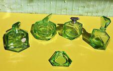 Art Deco German Echt Kristall glass dressing table set.
