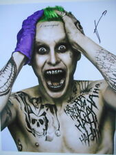 SUICIDE SQUAD personally signed 14x11 JARED LETO as THE JOKER