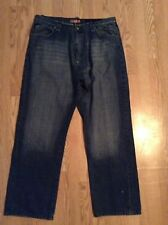 MENS AKADEMIKS JEANS-SZ 42x33- WIDE-JEANIUS HOUSE, BLING
