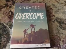 CREATED TO OVERCOME LIVING IN FAITH & FREEDOM BY JOEL OSTEEN1 DVD & 2 CDs NEW
