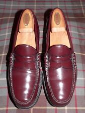 Monograms By G. H. Bass Burgundy/Cordovan Leather Penny Loafers, USA, Size 7.5D
