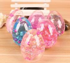 Clear Egg Soft Slime Cute Pearl Crystal putty Gag Gift Toy Stress Relief Toys