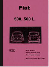 Fiat 500 und 500 L Bedienungsanleitung Betriebsanleitung Handbuch Owner's Manual