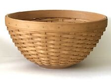 "Vintage 2007 LONGABERGER Basket TALL & LARGE 11"" BOWL Fruit BASKET Wood Bottom"