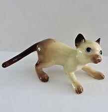 Vtg Hagen Renaker Pottery Siamese Kitten Cat Mini Miniature Porcelain Figurine