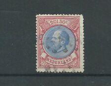 Nederland  29  Willem III 1872   VFU/gebr  CV 150  €