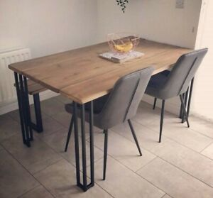 Industrial Style Dining Table And Bench Set Vintage Style, Rustic, solid wood.
