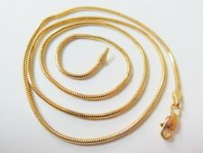 Pure 18k Yellow Gold Necklace / Men&Women Snake Round Milan Link Chain/ 5g