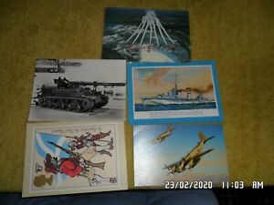 5 x Military Equipment Postcards Various Unposted