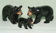 More details for klima miniature porcelain animal figures black bear family l988