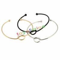 Adatti a donne oro / argento / braccialetto nero del polsino del braccialetto