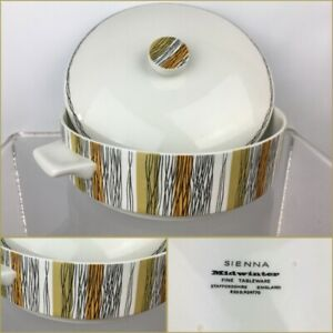 Vintage Mid Century Midwinter Sienna Lidded Tureen Casserole Dish Serving Pot