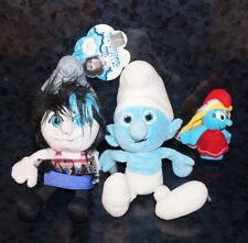 x3 Lot THE SMURFS VEXY PLUSH New Tag Macys Smurfette Puppet Boy Smurf Doll Kids