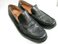 Abeo Bio Womens Black Leather Moc Toe Loafers Size US 9.5
