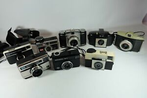 Job Lot Of Old Vintage Film Cameras KODAK Please Read