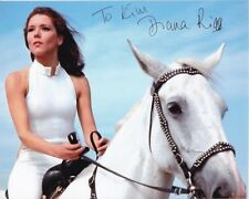 DIANA RIGG Autographed Signed THE AVENGERS EMMA PEEL Photograph - To Kim