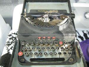 vintage monarch pioneer typewriter