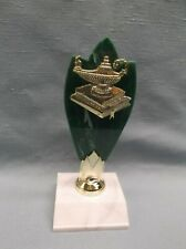 lamp of knowledge trophy green backdrop snap figure white base