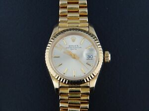 1985 Rolex Oyster Perpetual Date 18KY Gold DATE Watch