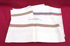 Fleur Bleue French Cotton Linen Tea Towels Cloth Stripes Set of 4 Unused