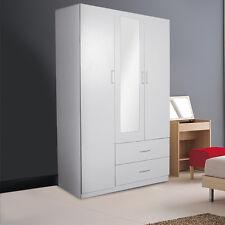 Redfern 3 Doors 2 Drawers Wardrobe/Cupboard with Mirror, White