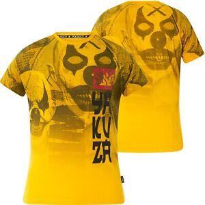 YAKUZA Psycho Clown Allover T-Shirt TSB-18052 Gold Fusion Gelb T-Shirts