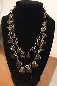 Honey Quartz 2-Strand Necklace - Hangs 16 & 19 Inches