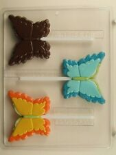 BUTTERFLY LOLLIPOP CLEAR PLASTIC CHOCOLATE CANDY MOLD AO173