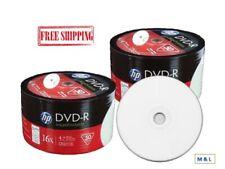 HP 16X White Inkjet Hub Printable DVD-R Blank Disc 4.7GB Wholesale Lot